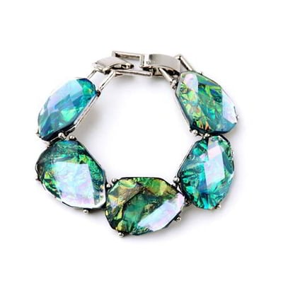 Rock Chic Irregular Shape Decorated Simple Design 6 pcs RA6555-Blue