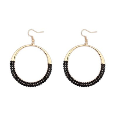 Round Shape With Diamond Decorated Forever21  6pcs 0AF6DA-Black