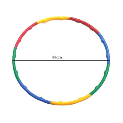 BODY GYM Adjustable Hula Hoop Warna-Warni 80cm