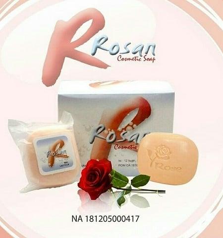 Rosan Cosmetic Soap ( Sabun Wangi Rose Bunga Mawar RCS ) Menghilangkan Bekas Luka Melembabkan Kulit