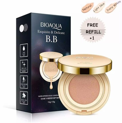 BioAqua Exquisite & Delicate BB Cushion (Gold Cushion) - Ivory White