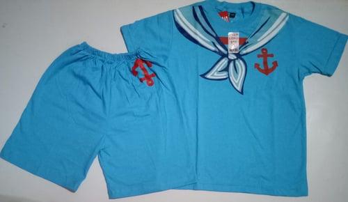 Setelan Kaos Anak & Celana Pendek Profesi Pelaut