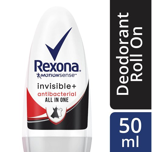 Rexona Women Roll On Invisible+ Antibacterial All In One 50ml
