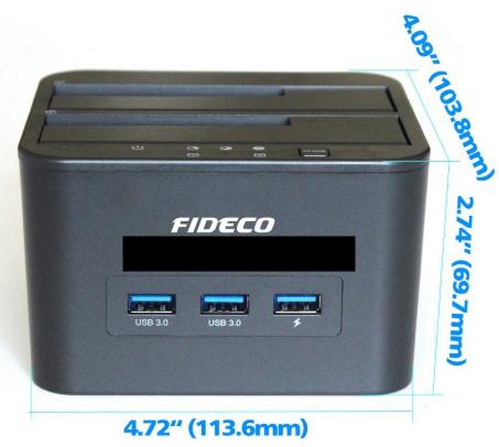 FIDECO Docking Harddisk 2 Bay with USB HUB 3.0