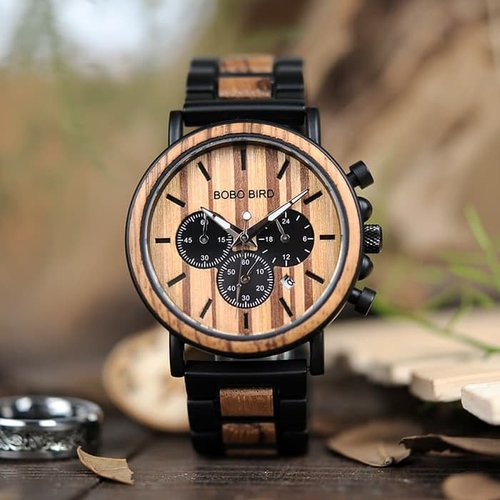 Jam tangan BOBO BIRD Jam Tangan Kayu Chrono Pria
