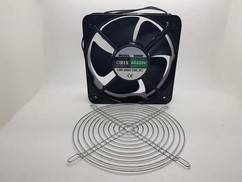 Kipas Fan panel ORIX AC 220V 20x20 cm with Ball Bearing black