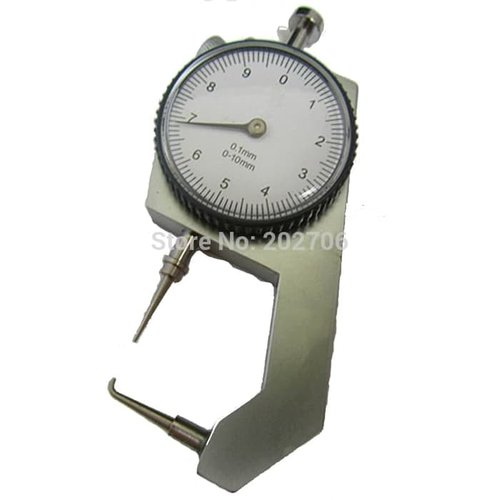 Thickness Gauge Meter Curved Tip 0-10mm Alat Ukur Ketebalan