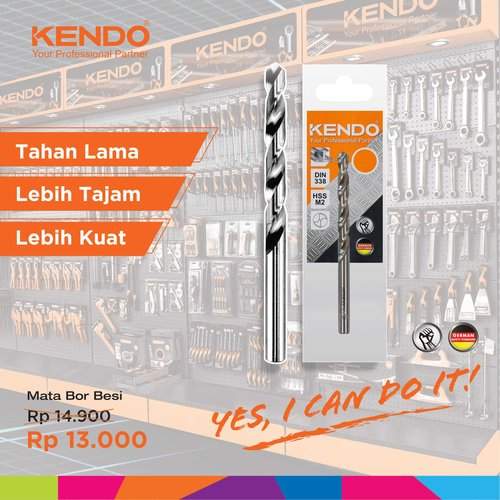 KENDO Fully Ground Drill - Mata Bor Metal 4mm By Bionic Hardware