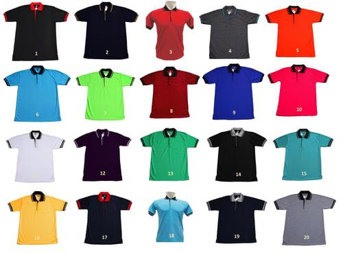Kaos Polo Shirt Polos Hijau Stabilo