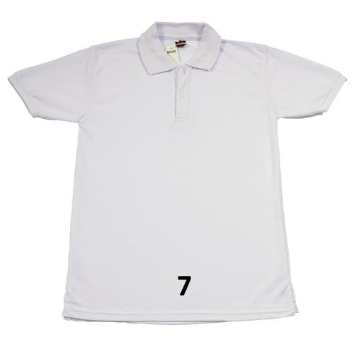 Kaos Polo Shirt Putih Polos