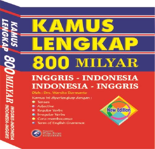 KAMUS LENGKAP INGGRIS INDONESIA 800 M PENERBIT WIDYA KARYA