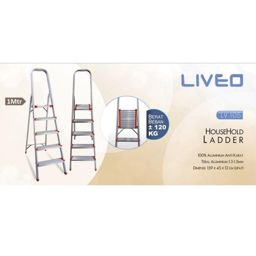 LIVEO Household Ladder 5 steps LV-105