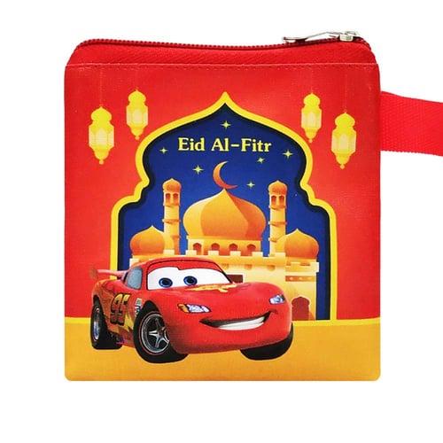 Amplop Lebaran Karakter Cars Merah Dompet Fitrah THR Eid Mubarak
