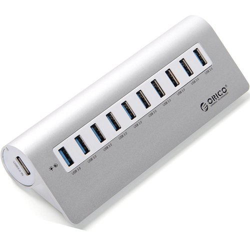 ORICO M3H10 Aluminum USB 3.0 10-Port Hub with 12V/3A Power Adapter