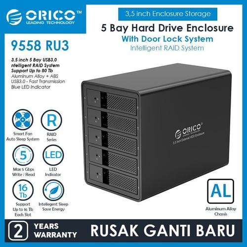 ORICO 9558RU3 USB 3.0 RAID Five Bay Hard Drive Enclosure