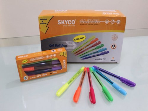 SKYCO Semi Gel Pen Blue Black Red 208