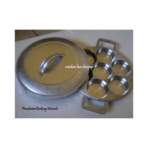 Cetakan Kue Lumpur / Pancake / Dorayaki Bahan Alumunium + Tutup
