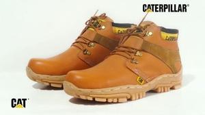 CATERPILLAR Sepatu Leather Safety Tan