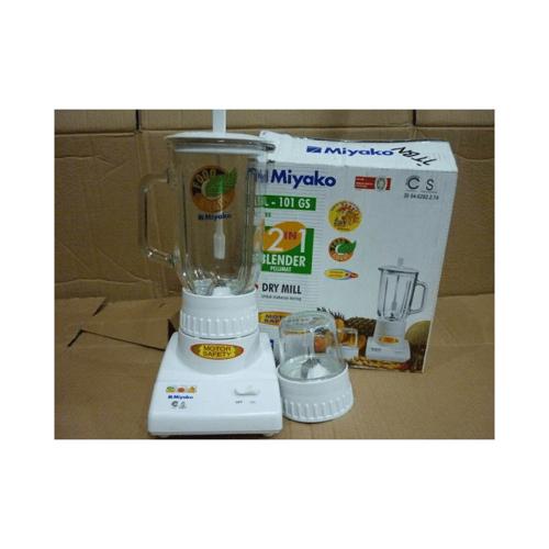 Miyako Blender + Drymill 2 In 1 Kaca 200W Food Grade BL-101GS