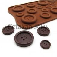 Cetakan Silikon Es Puding Coklat Jelly Kancing