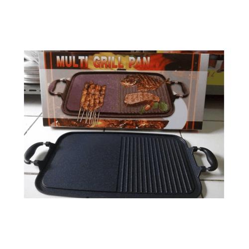 MultiGrillPan Panggangan Sehat Pemanggang Multi Fungsi Grill Pan bahan baja lapis marbel / marble