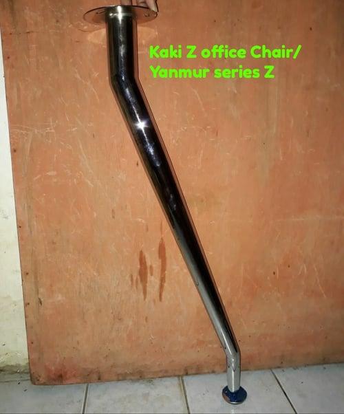 kaki meja OFFICE  model Z bengkok 70cm