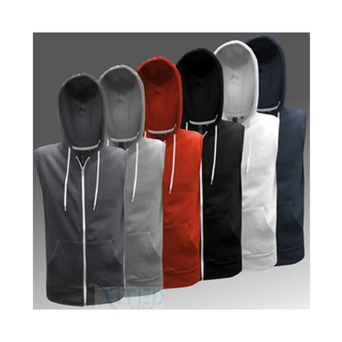 Vest Hodies With ziper Light Grey