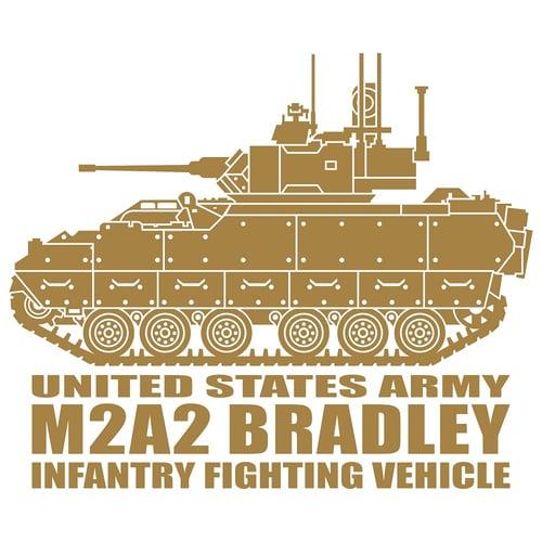 Bradley Infantry Fighting Vehicle, Cutting Sticker