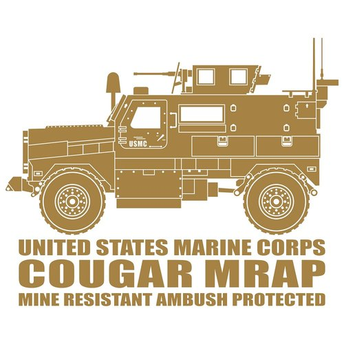 Cougar Mine Resistant Ambush Protected, Cutting Sticker