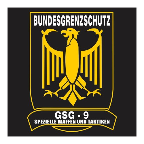 GSG-9 German Special Force with Shield, Cutting Sticker