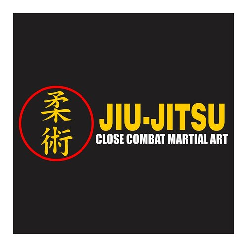 Jiujitsu, Close Combat Martial Art, Cutting Sticker