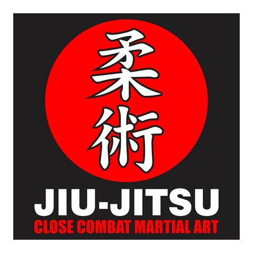 Jiujitsu Close Combat Martial Art, Cutting Sticker
