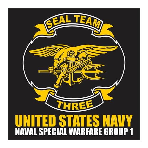 Seal Team Three, United States Navy, Cutting Sticker