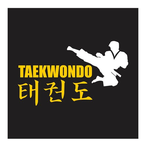 Taekwondo, Flying Side Kick, Cutting Sticker