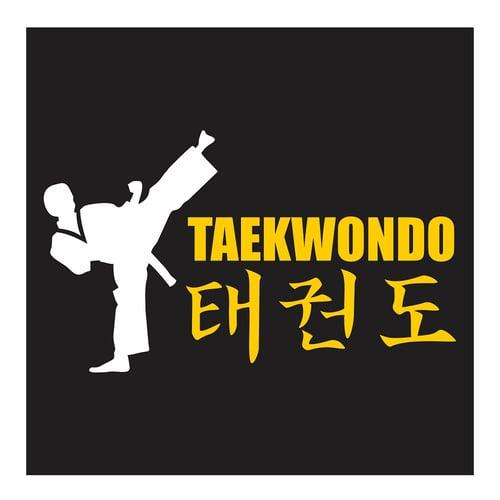Taekwondo, High Round House Kick, Cutting Sticker