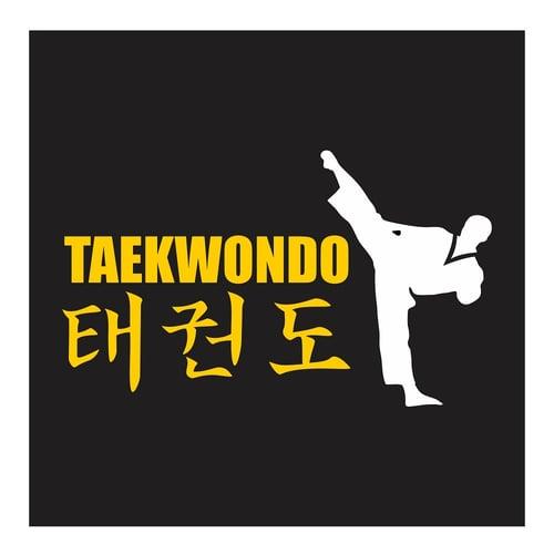 Taekwondo, Side Kick, Cutting Sticker