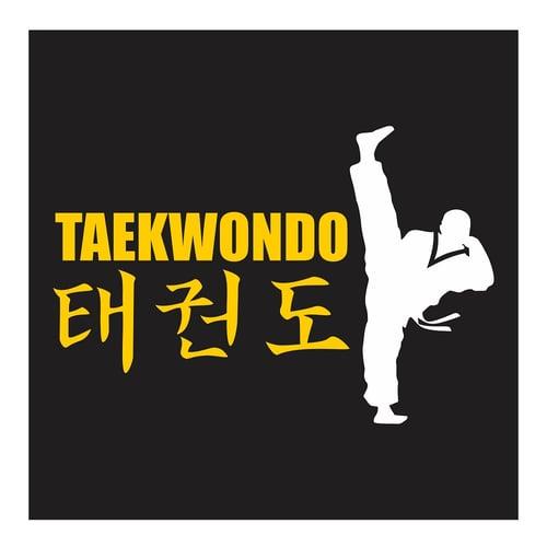 Taekwondo Axe Kick, Cutting Sticker