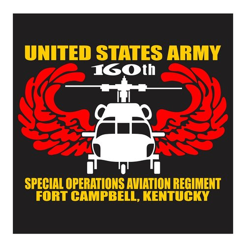 US Army 160th Special Operations Aviation Regiment, Fort Campbell Kentucky, Cutting Sticker