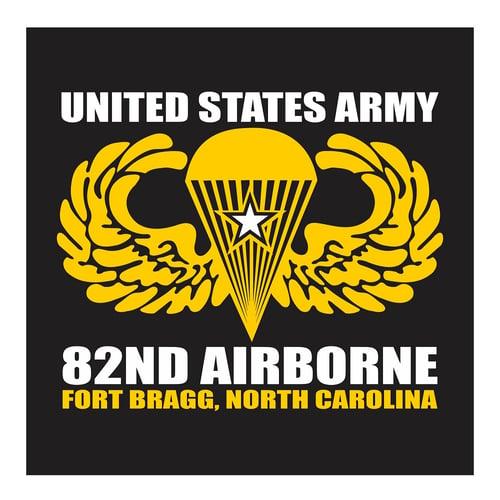 US Army Airborne School Fort Benning, Georgia Cutting Sticker