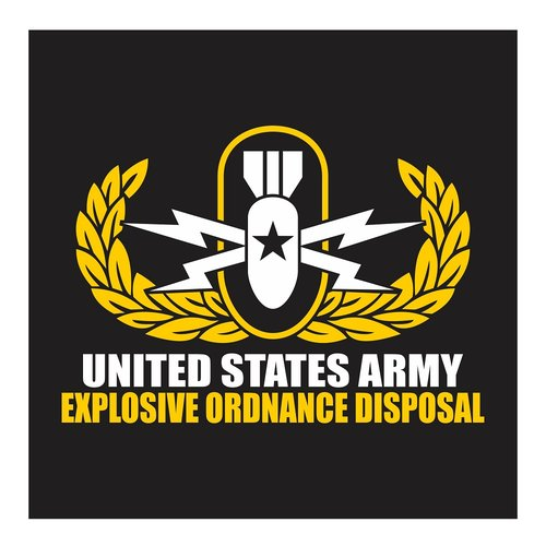 US Army Explosive Ordnance Disposal (EOD) Senior Rank, Cutting Sticker