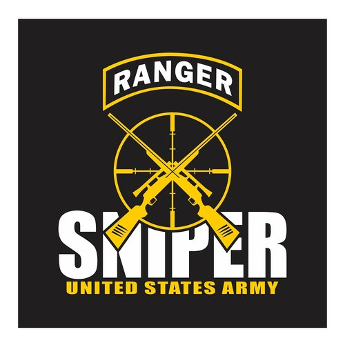 US Army Ranger, Sniper Team, Cutting Sticker