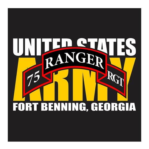 US Army Ranger 75th RGT, Fort Benning Georgia, Cutting Sticker