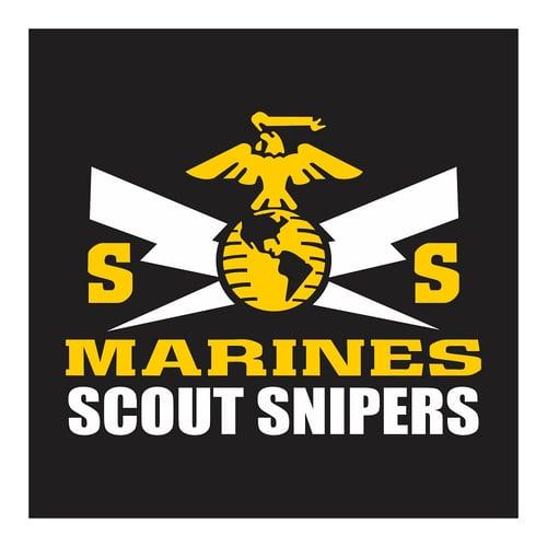 US Marines, Scout Sniper, Cutting Sticker