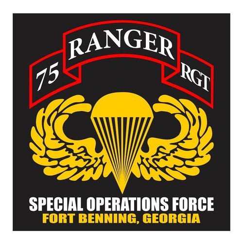 US Ranger 75th RGT, Special Operation Force, Fort Benning, Georgia Cutting Sticker