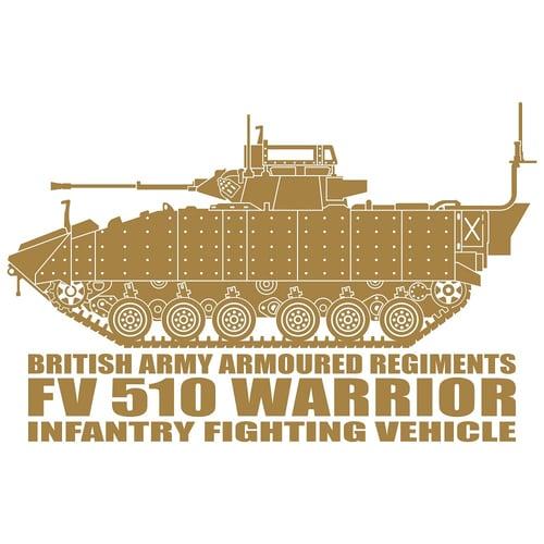 Warrior FV 510 Infantry Fighting Vehicle, Cutting Sticker