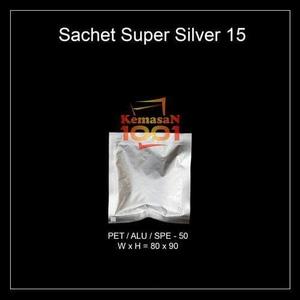 Kemasan Sachet Alufoil Silver 15