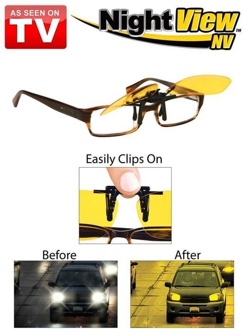 Kacamata Klip On HITAM Anti Silau Saat Siang / Day View Clip Ons Hitam