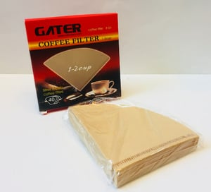 GATER Coffee Filter Kerucut 1 s.d 2 cups Isi 40lbr