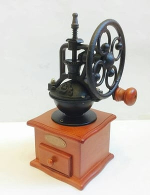 CAFE Manual Coffee Grinder Wood Classic Vintage