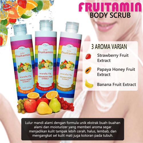 Body Scrub Fruitamin / Lulur Friutamin BPOM